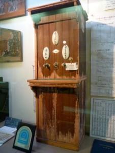 明治期の自動販売機が二戸市に現存しています。